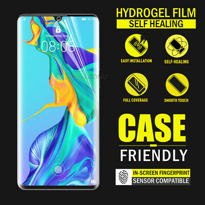 HUAWEI P30 Pro P30 HYDROGEL AQUA FLEXIBLE Crystal Film Screen Protector AU Stock
