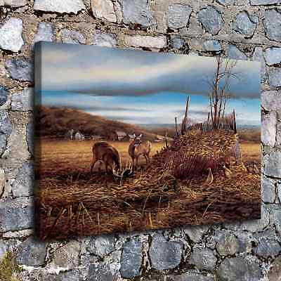 """12""""x18""""Deer and hay HD Canvas print Painting Home Room Decor Picture Wall art"""