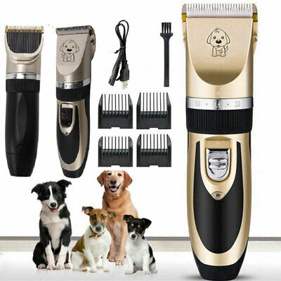 Electric Pet Dog Cat Hair Clipper Razor Low-noise Animal Grooming Trimmer Shaver