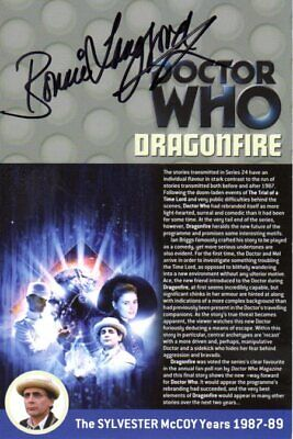 Doctor Who: DRAGONFIRE DVD Insert Signed by Bonnie Langford