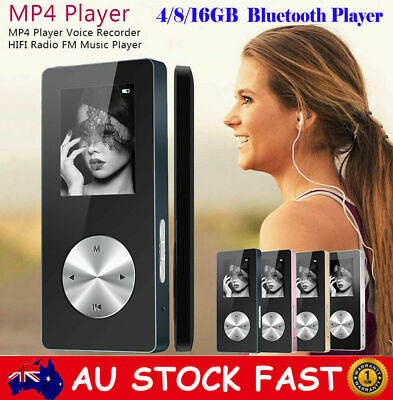 "4/8/16GB 1.8"" Bluetooth HIFI MP3 MP4 Music Video Media Player FM Radio Recorder"