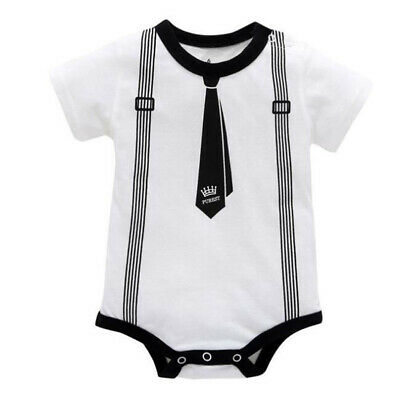 Newborn Baby Clothes Cotton Boy Romper O Neck Gentleman Body for Newborns O D3R4