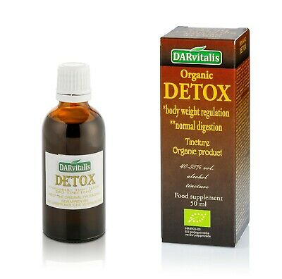 DETOX TINCTURE ORGANIC PRODUCT 50 ml - FOR BODY WEIGHT REGULATION AND DIGESTION