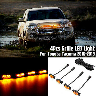 Grille Grill Led Lights For Toyota Tacoma Trd Amber Leds 2016-2019 W/Wire