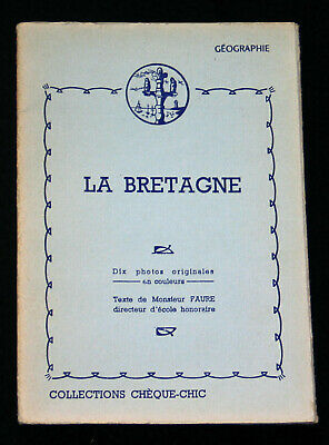 Pochette 10 Photogravure 1950 La Bretagne Collections Cheque-Chic Cemoi Lustucru