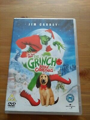 The Grinch (Dr Suess DVD, 2004) Good Condition Regions 2 & 4