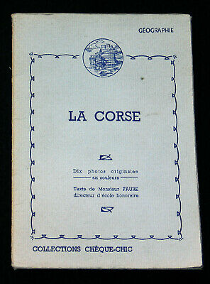 Pochette 10 Photogravure 1950 La Corse Collections Cheque-Chic Cemoi Lustucru