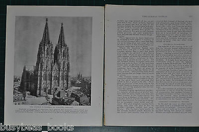 1914 GERMANY magazine article, pre-WWI, people, history etc German Nation