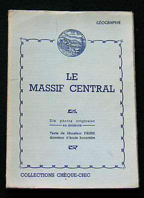 Pochette 10 Photogravure 1950 Massif Central Collections Cheque Cemoi Lustucru