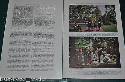 1936 magazine article ANNAPOLIS United States Naval Academy history color photos