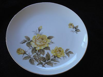 "Norleans China Talisman 12"" Round Chop Plate Japan Yellow Rose"