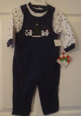 First Impressions Infant Boy Two Piece Christmas Outfit Size 12 Months NWT