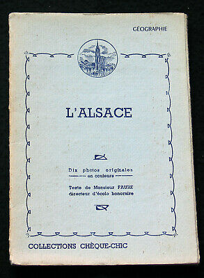 Pochette 10 Photogravure 1950 L'alsace Collections Cheque-Chic Cemoi Lustucru