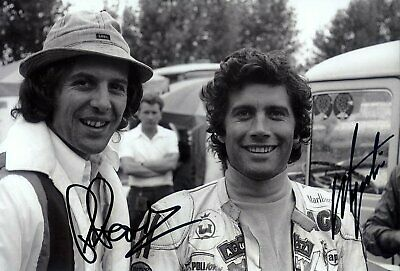 Giacomo Agostini & Phil Read MV Agusta Portrait 1974 Signed Photograph
