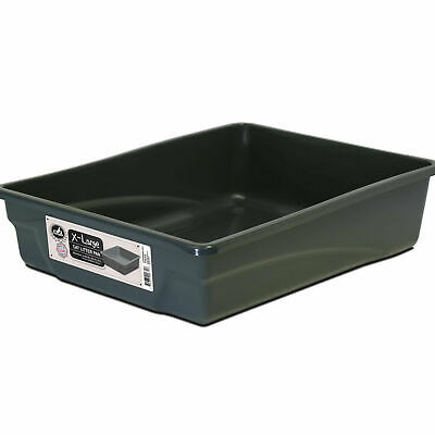 EXTRA LARGE CAT Litter Box Kitty Pet Plastic Pan Animal Clean System Durable