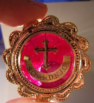 True cross Jesus of Christ w/Document 1st class reliquary relic on stain glass