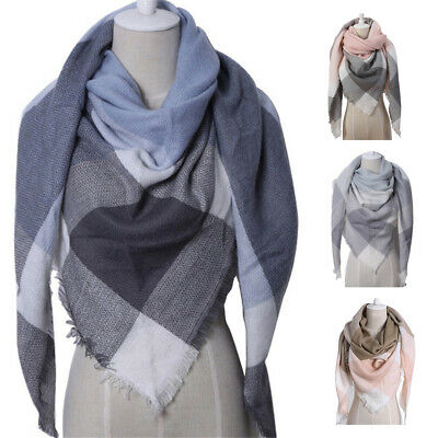 Winter Women's Scarf Thick Warm Wool Pashmina Cashmere Scarves Shawl Wraps