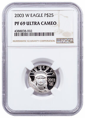 2003 W 1/4 oz Platinum American Eagle Proof $25 NGC PF69 UC SKU16533