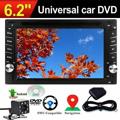 6.2 Inch Car Stereo GPS Navigation Bluetooth Touchscreen USB SD MP3 Player 2DIN