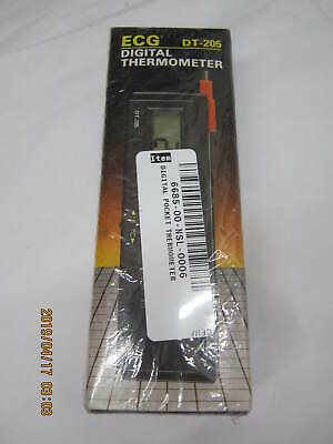 """ECG DT-205 Pocket-Sized Digital Thermometer w/ 3.5"""" Built-In Thermocouple Probe"""