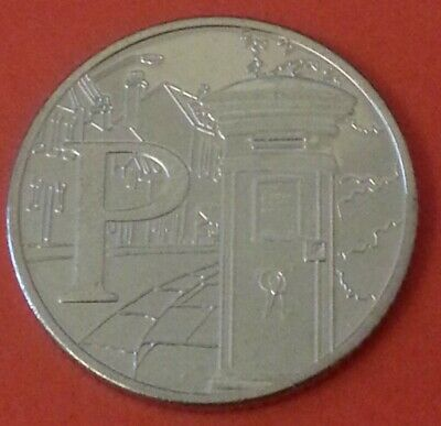 NEW A-Z 2019 ALPHABET 10p COIN HUNT- LETTER P - POST BOX  UNCIRCULATED