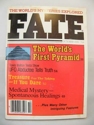 Fate Magazine - October 1978 - UFO Ghosts Paranormal Digest