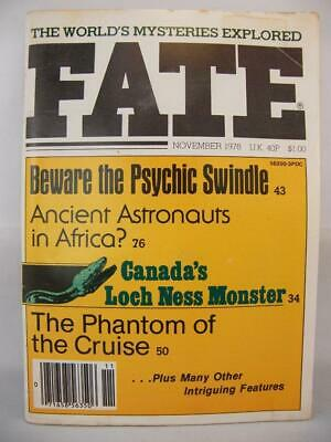 Fate Magazine - November 1978 - UFO Ghosts Paranormal Digest