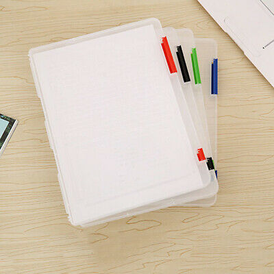 Hot Office Necessaries School A4 File Folder Plastic Paper Storage Document Box