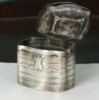 Antique Dutch Solid Silver Marriage / Snuff or Peppermint Box - Hallmarked Base