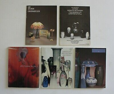 LOT OF 5 Arts Crafts Mission Furniture American Art Pottery Auction Catalog Book