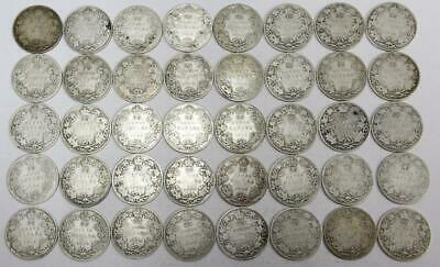 40x Canada 1911-1920 King George V 25 cents all AG to G coins see list