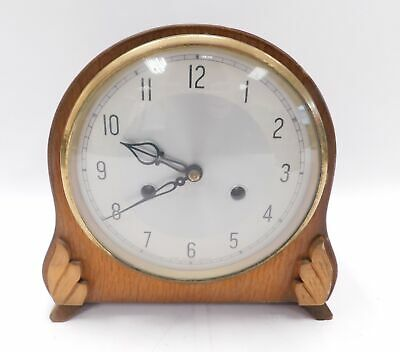 Vintage SANDERS AND COMPANY London Wooden Mantle Clock 21 x 22cm  - H24
