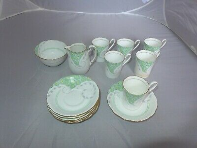 Grafton China Adelphia coffee cups / cans & saucers milk cream jug sugar bowl