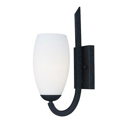 Maxim Lighting 15' x 5' Taylor 1 Lt Wall Sconce, Black/White - 21659SWTXB