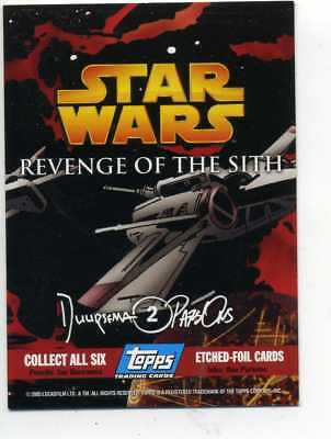 STAR WARS  REVENGE OF THE SITH ETCHED FOIL CARD No. 2