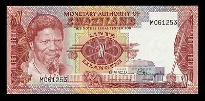 Swaziland Africa 1 Lilangeni 1974 P. 1 UNC Note