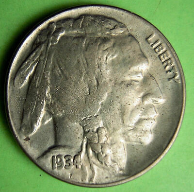 1934-D Uncirculated Buffalo nickel.