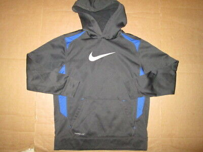 3b5f4290a934 NIKE THERMA-FIT BLUE Hooded Sweatshirt Boys Small Excellent ...