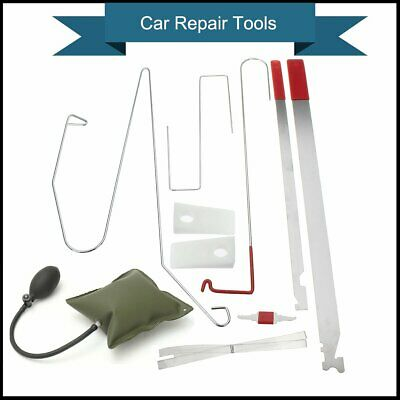 Car Door Lock Out Emergency Open Unlock Key Tools Kit + Green Air Pump Universal