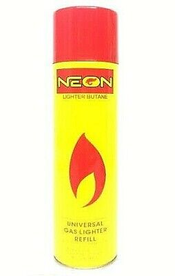 2X Neon Lighter Butane Can -300ml- Daily Deals Universal Gas Lighter Refill
