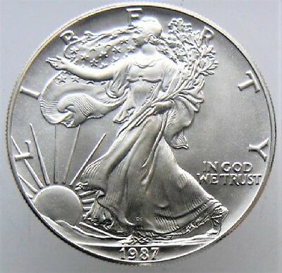 1987 American Silver Eagle BU 1 oz Coin US $1 Dollar Brilliant Uncirculated *87