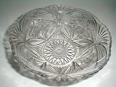 """EAPG Cambridge Glass Nearcut #2579 FEATHERED OVALS  8"""" Round Bowl 1905"""