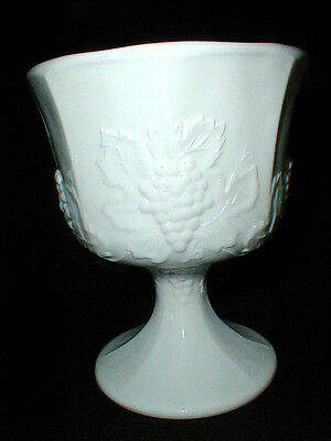 Indiana/Colony Milk Glass HARVEST GRAPE Pedestal Compote (Loc-Gar)