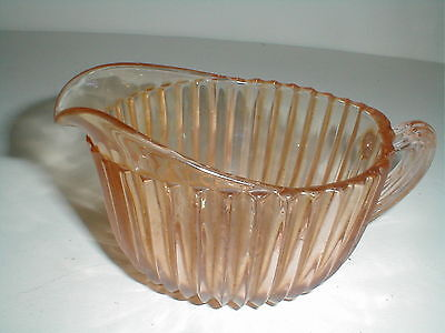Anchor Hocking Pink Depression Glass QUEEN MARY Creamer EXC