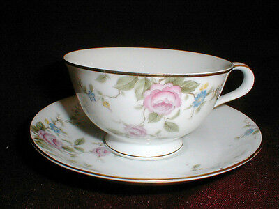 2 Noritake China #6679 FIRENZE Cup Saucer Sets_Lot of TWO SETS  EXC (bas)
