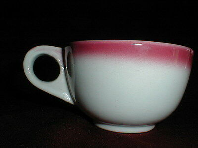 Homer Laughlin Restaurant Ware Best China SHADOWTONE RED Fade Cup/s