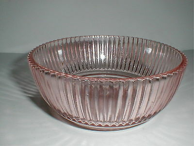 Anchor Hocking Pink Depression Glass QUEEN MARY Cereal Bowl