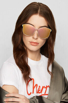 88d9cd813caf NEW  345 KAREN WALKER Sunglasses Star Sailor Gold Pink Mirror 1701538 Women