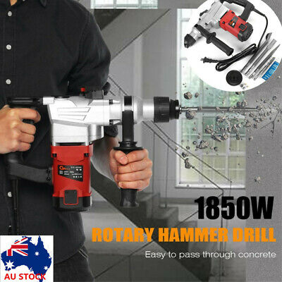 1850W Electric Rotary Hammer Drill Demolition Jack Hammer Kit With Case