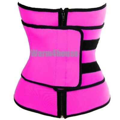 Unisex Xtreme Power Belt Hot Slimming Thermo Shaper Waist Trainer Sport Belts US